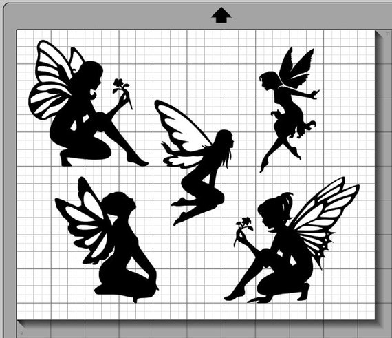 Fairy silhouette collection svg png and by mentalepisodes for Fairy cut out template