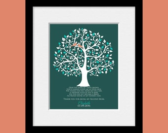 Thank You Gift for a Step-Mom,  Poem for Your Step Mother,  SECOND MOTHER, Bonus Mom, Step Mother's Gift, Personalized Gift for Step Parents