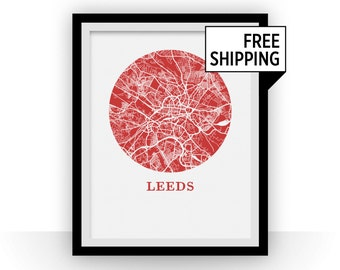 Leeds Map Print - City Map Poster