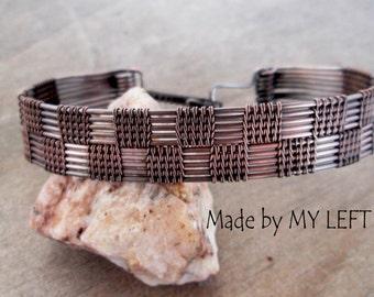 Mens Bracelet Wire Wrapped Men Copper Bracelet Wire Woven Bracelet Mens Gift Gift for Him Boyfriend gift Mens jewelry Jewelry for him