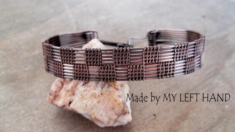 Mens Bracelet Wire Wrapped Men Copper Bracelet Wire Woven Bracelet Mens  Gift Gift For Him Boyfriend