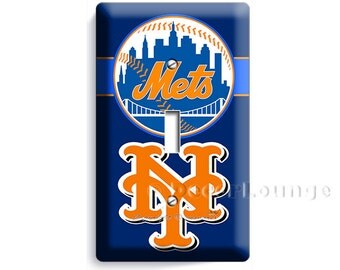 New York Mets NY Baseball Team Logo Single Light Switch Wall Plate Cover  Game Play Room