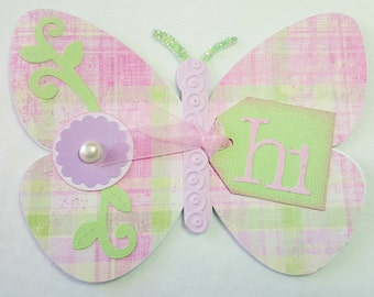 Hand Made Butterfly shaped Friendship Card