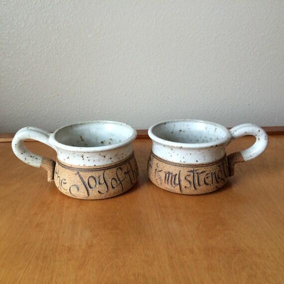 Inspirational Coffee Mugs Soup Bowls With Handle Writing