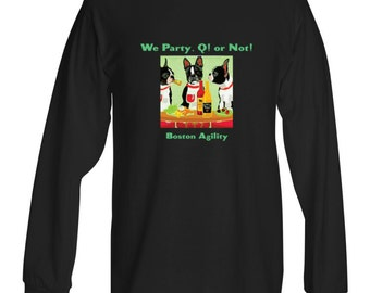Long Sleeve Boston Terrier Agility Shirt!