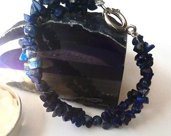 Lapis Lazuli Handmade Gemstone Crystal Helix Bracelet