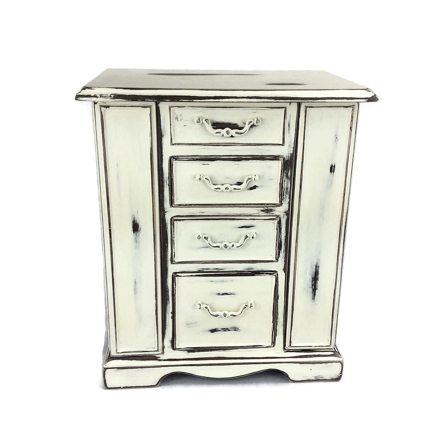 jewelry box white jewelry armoire rustic jewelry organizer. Black Bedroom Furniture Sets. Home Design Ideas