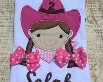 Cowgirl Birthday Shirt - Pink Cowgirl Birthday Shirt