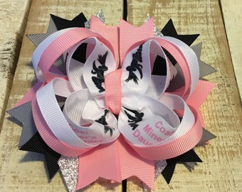 Pink Coal Miner's Daughter hair bow