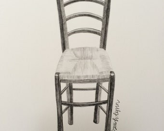 "9""x12"" Ladder Back Chair Print"