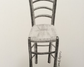 "5""x7"" Ladder Back Chair Print"