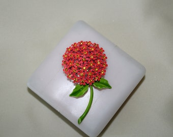 Signed Weiss Flower Brooch