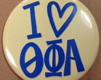 I {Heart} Theta Phi Alpha Button or Magnet