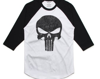 Punisher Skull Men's Raglan T-Shirt