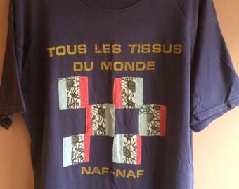 Vintage Rare 90's  Naf Naf tee size M