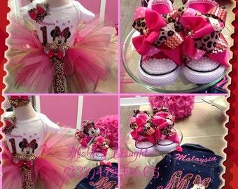 Minnie Mouse Leopard Fun Tutu Set