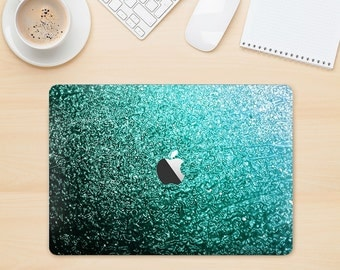 The Grungy Teal Texture  Skin Kit for the Apple MacBook Air - Pro or Pro with Retina Display (Choose Version)