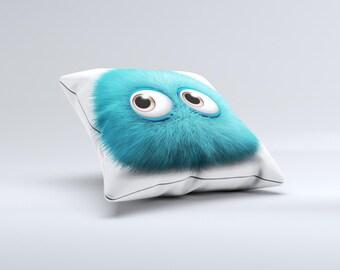 The Teal Fuzzy Wuzzy ink-Fuzed Decorative Throw Pillow