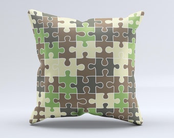 Decorative Pillow Cover Crossword Clue : Pillow cover puzzle Etsy