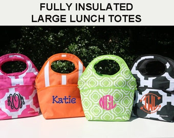 Monogrammed Lunch Bag, Lunch Box, Lunch Tote, Personalized Lunch Bag, Mini Cooler, Smaller Cooler, Monogrammed Insulated Lunch Bag