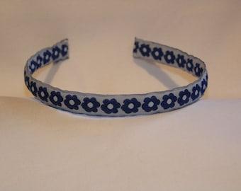 Flower Pattern Woven Ribbon Headband/Alice Band