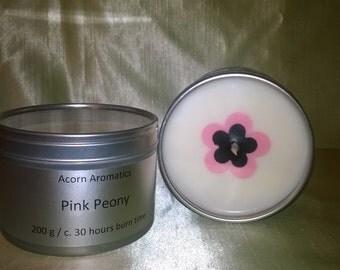 Peony Soy Wax Candle