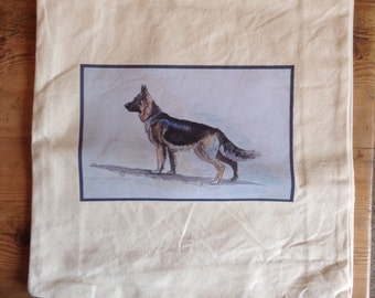 Canvas Shopper 'German Shepherd Print'