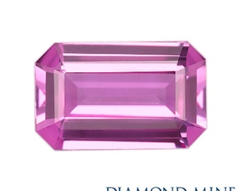 A Beautiful NaturalSapphire 1.48 Pink Emerald Cut Extra