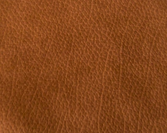 Gorgeous  Tanned FAUX LEATHER  Contemporary Upholstery Fabric       Cinnamon Color       Handbag  Pillow