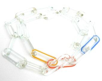 Vintage Glass Link Necklace