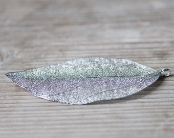 Autumn Leaf Pendant, Woodland Fall Jewelry Components, Large Leaf Pendant Gift For Her, Modern High Fashion Woodland Jewelry, Autumn Jewelry