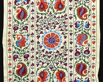 charming uzbek hand silk embroidery suzani from bukhara a7563