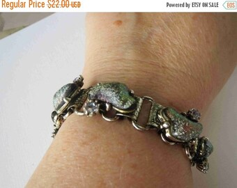 20% OFF Shimmering Iridescent Glass Book Chain Bracelet