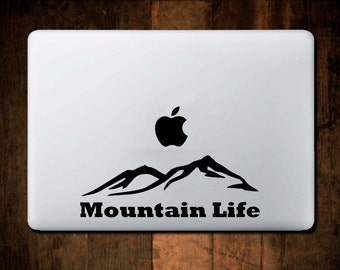 Mountain Life Range Decal macbook decal,ipad decal, macbook sticker, ipad sticker, laptop decal, mountian, hill