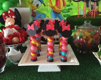 Minnie Mouse Candy Tube Party Favors, Minnie Mouse Party Favors, Minnie Mouse Party, Minnie Mouse Birthday party, Minnie Favors - SET OF 12