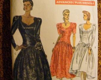 51% OFF 1980's Misses' Formal Dress Uncut Vogue Sewing Pattern 7614 Size 12 14 16