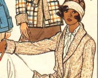Vogue 8794, Sz 8. Vintage Ladies Cardigan Sweater with Shawl Collar pattern, UNCUT.