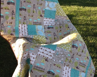 Contemporary hedgie quilt