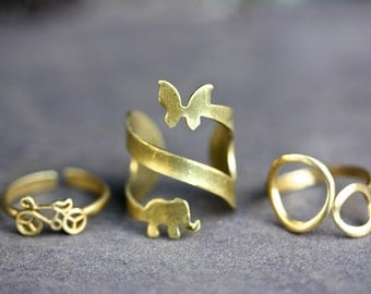 Brass boho Rings, tribal rings, boho rings, bycicle ring, ethnic rings,hippie rings,gold rings,antique brass rings, bohemian, tattoo ring,25