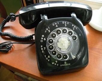 VintageTelephone, phone, dial phone,Black, desk phone