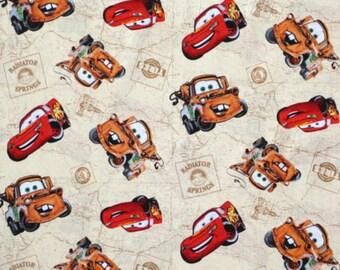 last piece. Disney pixar cars. Radiator Springs on beige map background. OOP and getting scarce.