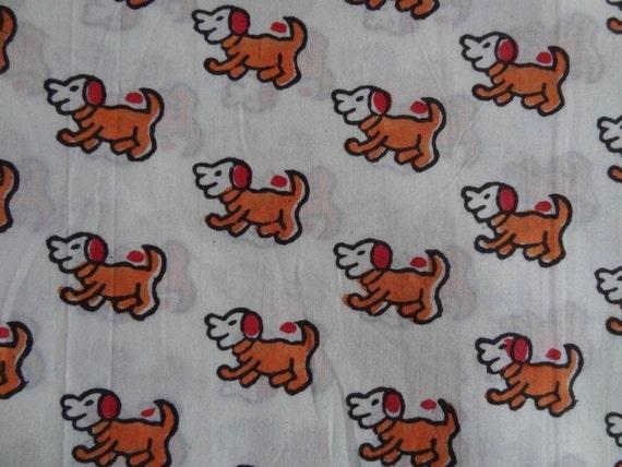 Dog print block print fabric cotton fabric indian fabric for Kids print fabric