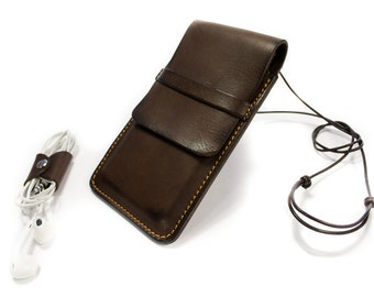 iPhone Leather case for iphone 6S or PLUS or 5S 5C 4S customizable made in Italy