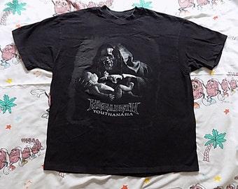 Vintage 90's Megadeth Youthanasia T shirt, size Large 1994 concert tee metal