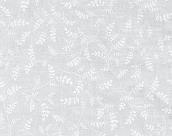 Whisper White Fern, Fabric by the Yard