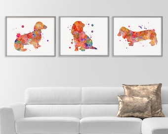 Dachshund Wall Art dachshund decor | etsy