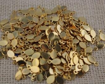 Vintage Gold Beavertails Bail Pendant Holders Findings (20 Pieces)