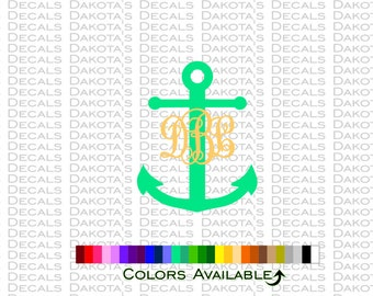 "Anchor and Initials 8"" Decal"