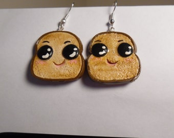 Earrings with a smile (toast)