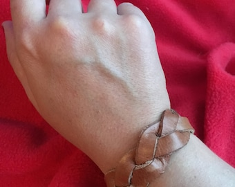 Mystery Weave Leather Bracelet